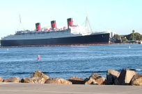 Boat, Vehicle, Watercraft, Ship, Steamer, Water, Waterfront, Port, Harbor, Dock, Building, queen mary