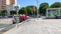 Road, Vehicle, Automobile, Car, Motorcycle, City, Street, Building, Town, Intersection, Wheel, Path, Metropolis, Neighborhood, Symbol