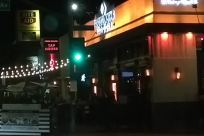 Lighting, Automobile, Car, Vehicle, Traffic Light, Light, Building, Town, Metropolis, City, Food, Meal, Restaurant, Hotel, Road