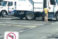 Vehicle, Truck, Trailer Truck, Tire, Automobile, Car, Road, Wheel, Helmet, Van, Moving Van, Town, Building, City, Housing