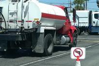 Truck, Vehicle, Trailer Truck, Road, Tire, Wheel, Plant, Vegetation, Bumper, Car Wheel, Pickup Truck, Spoke, Tow Truck