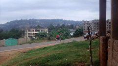 Car, Vehicle, Road, Plant, Vegetation, Tree, Motorcycle, Building, Housing, Neighborhood, Town, Landscape, Grass, kisii hghlands