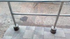 Flagstone, Slate, Floor, Concrete, Flooring, Water, Banister, Handrail, Furniture, Tabletop, Table, Patio, Tile