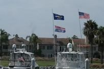 Flag, American Flag, Waterfront, Harbor, Watercraft, flags