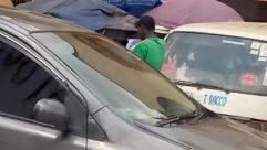 Windshield, Automobile, Car, Vehicle, Market, Canopy, Umbrella, Tent, Aircraft, Airplane, Shop, Bazaar, Roof Rack, Town, City