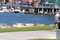 Water, Waterfront, Port, Dock, Harbor, Pier, Marina, Walking, Vehicle, Path, Boat, Vessel, Watercraft, People, Building