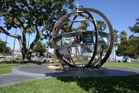 Gate, Sphere, Astronomy, Plant, Grass, Planet, Building, Porch, Path, City, Downtown, Town, Globe, Observatory, Lawn