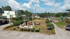Building, Town, City, Downtown, Automobile, Car, Vehicle, Plant, Vegetation, Hotel, Bush, Grass, Tree, Housing, Road