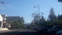 Automobile, Car, Vehicle, Truck, Wheel, Road, Building, Plant, Tree, Town, City, Street, Metropolis, High Rise, Freeway