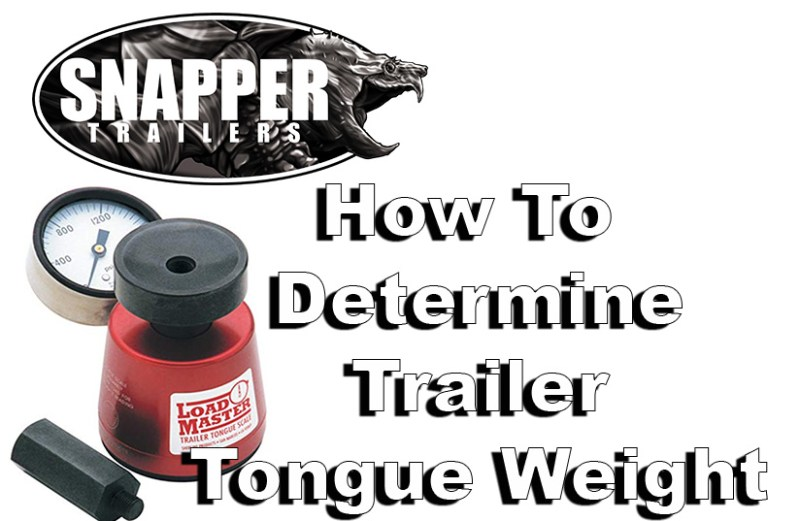 How to determine Trailer Tongue Weight