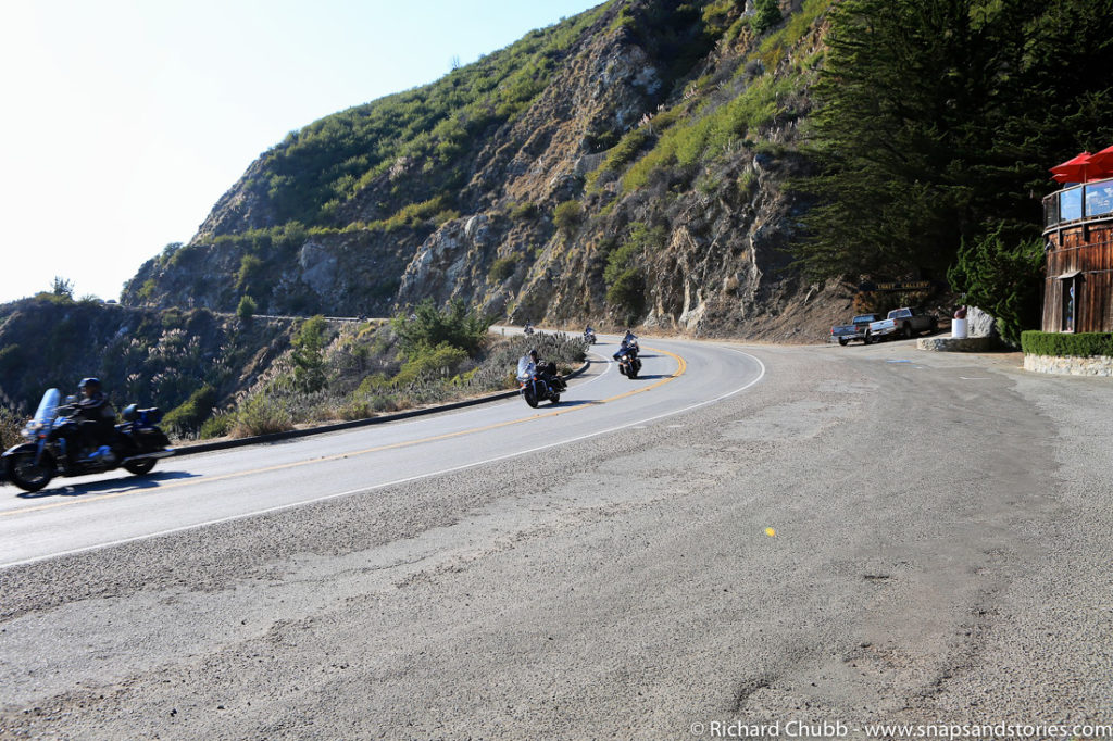 bikers on the pacific coast highway