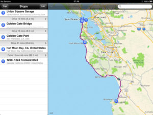 our route Driving from San Francisco to Monterey