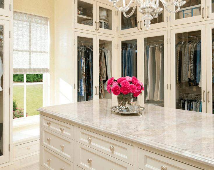 ... Dream Master Closet Inspiration White Creative Shelving Rug Carpet  Jewelry Purses Desk Makeup Drawers Lighting ...