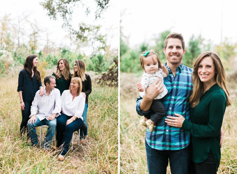 Large Family Photos Baby Coordinating Outfit Ideas Houston Memorial Park Paige Budde Awake Photography