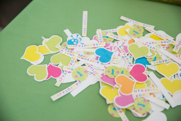 First Birthday Confetti Theme Party Kids Houston Bright Colorful Modern Creative Ideas