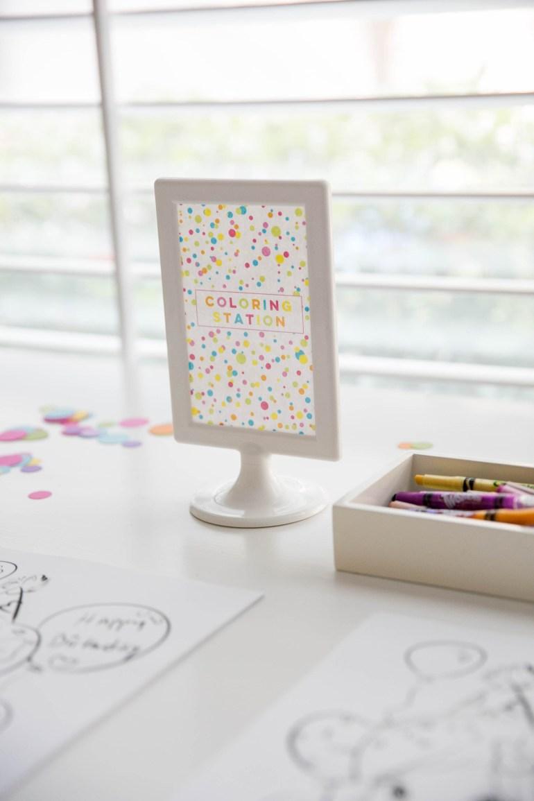 First Birthday Confetti Theme Party Kids Houston Bright Colorful Modern Creative Ideas