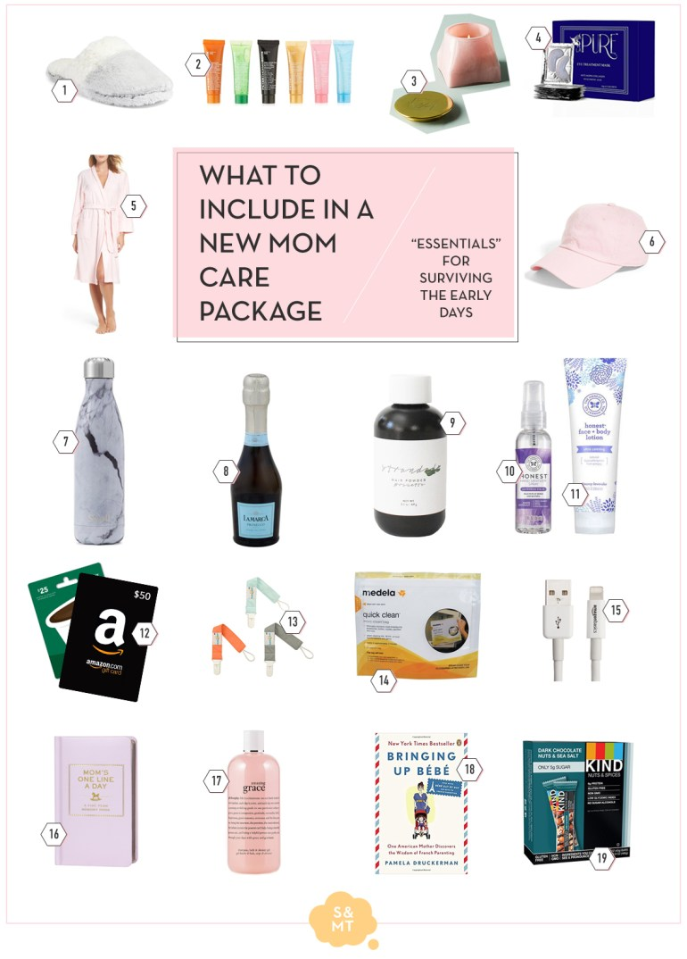 What to include in a new mom care package - essentials for the early days on www.SnapshotsandMyThoughts.com