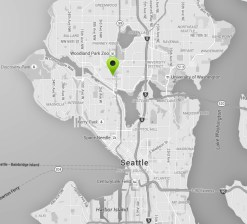 Fremont Map black and white Seattle