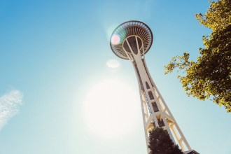 space needle seattle summer