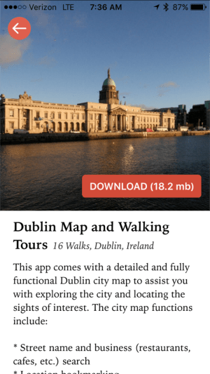 gps guided travel article Dublin