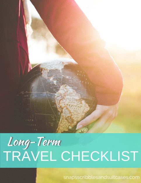 checklist for long-term travel