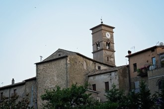 sacrofano Italy clock tower