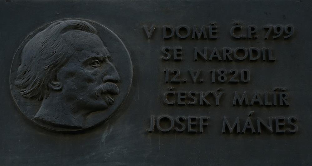 Josef Mánes plaque Prague