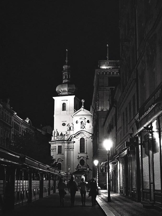Prague black and white