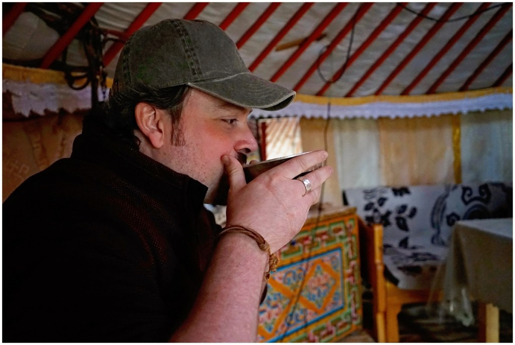 drinking horse's milk in mongolia