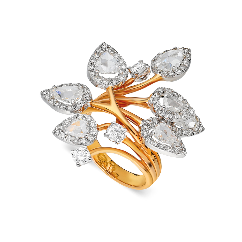 Sparkle Ring by Terzihan in 18K Rose Gold with White Diamonds ($10,800).