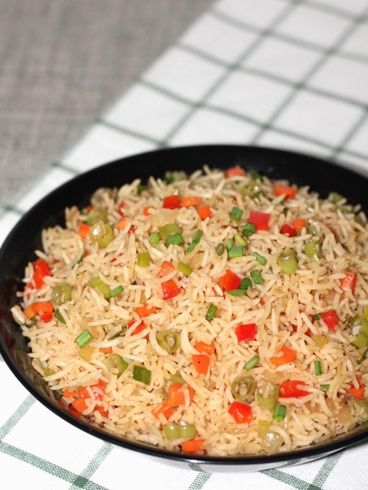 Restaurant style vegetables fried rice 1