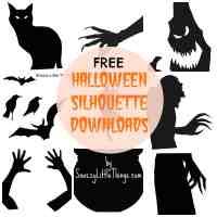 halloween silhouette templates free