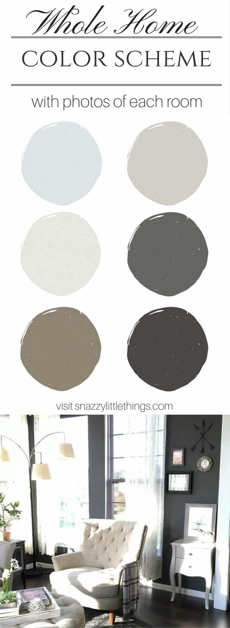 My Interior Paint Colors Snazzy Little Things