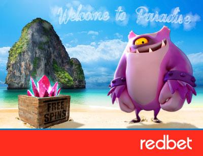 Redbet Casino - 25 Free Spins - No Deposit Required