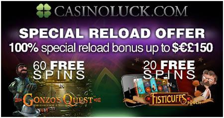 Casino Luck - 100% Bonus - 80 Free Spins