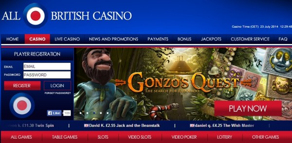All British Casino Exclusive Offer