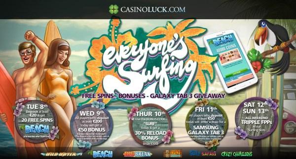 Casinoluck Surfing promotion