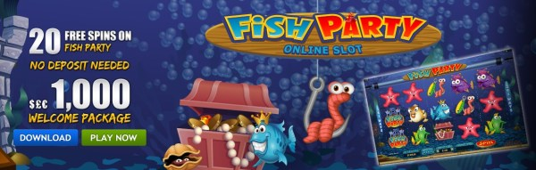 20 Free Spins - No Deposit on Fish Party