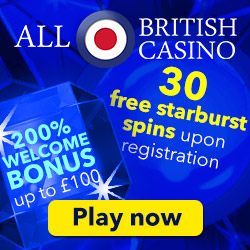 All British Casino 30 Free Spins No Deposit