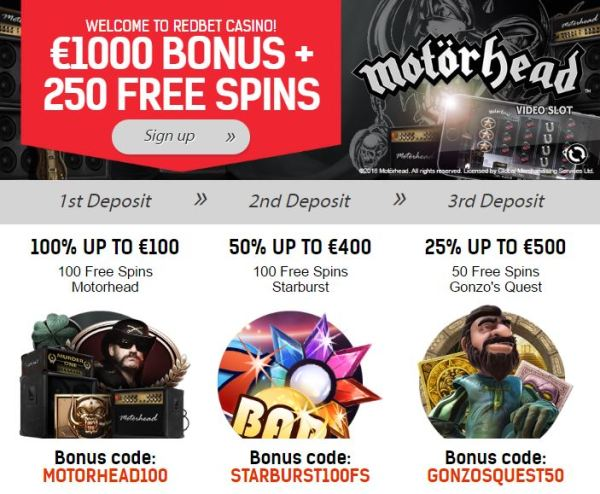 redbet-casino-motorhead-welcome-bonus
