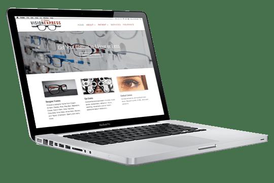 Website Design - 4-States Vision Express