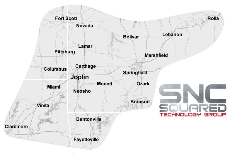 SNC Squared: IT Experts of Joplin, Webb City, Carl Junction, Carthage, Neosho, Lamar, Nevada, Fort Scott, Pittsburg, Columbus, Miami, Vinita, Claremore, Bentonville, Fayetteville, Bolivar, Springfield, Ozark, Branson, Marshfield, Lebanon, Rolla