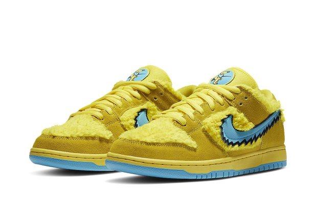 Grateful Dead x Nike SB Dunk Low - Yellow Bear - CJ5378-700