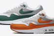 Nike Air Max 1 Anniversary - Magma Orange DC1454-101 - Hunter Green DC1454-101