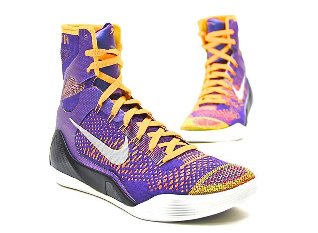 Nike Kobe 9 Elite Team (Court Purple/White/Laser Orange/Wolf-Grey 630847-500)