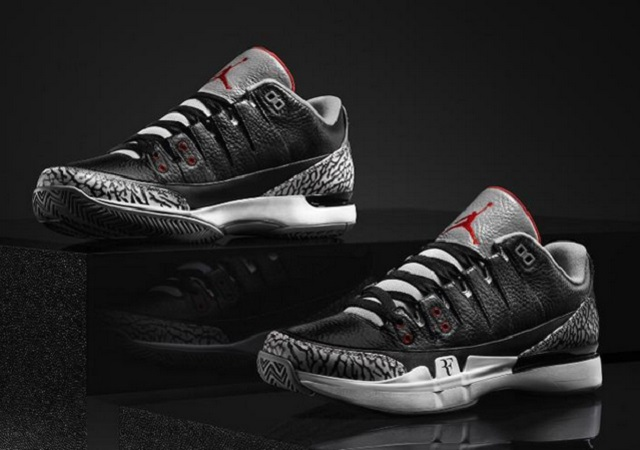 Nike Zoom Vapor Tour AJ3 (Black/Cement)