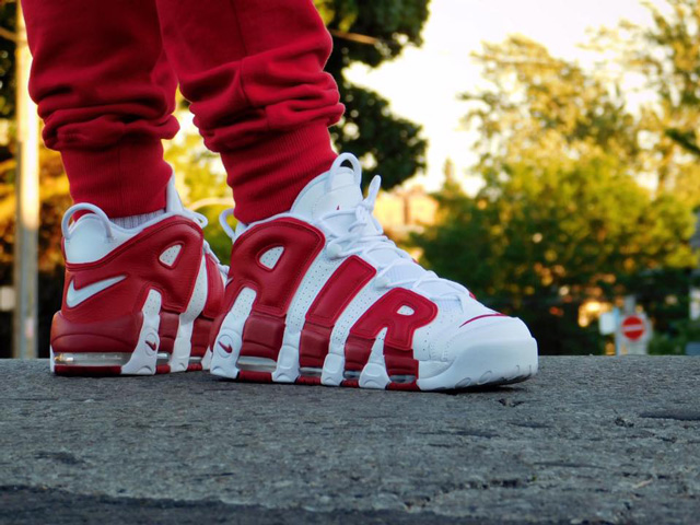 Nike Uptempo - oldalról jobban mutat (Fotó: Bandor Tibor)