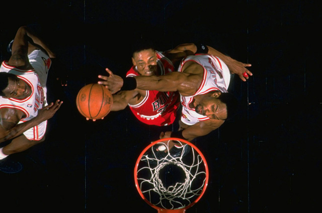 Scottie Pippen 1996-ban (Fotó: Bill Frakes / Sports Illustrated)