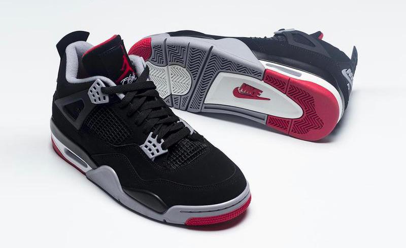 Nike Air Jordan 4 Bred talpa