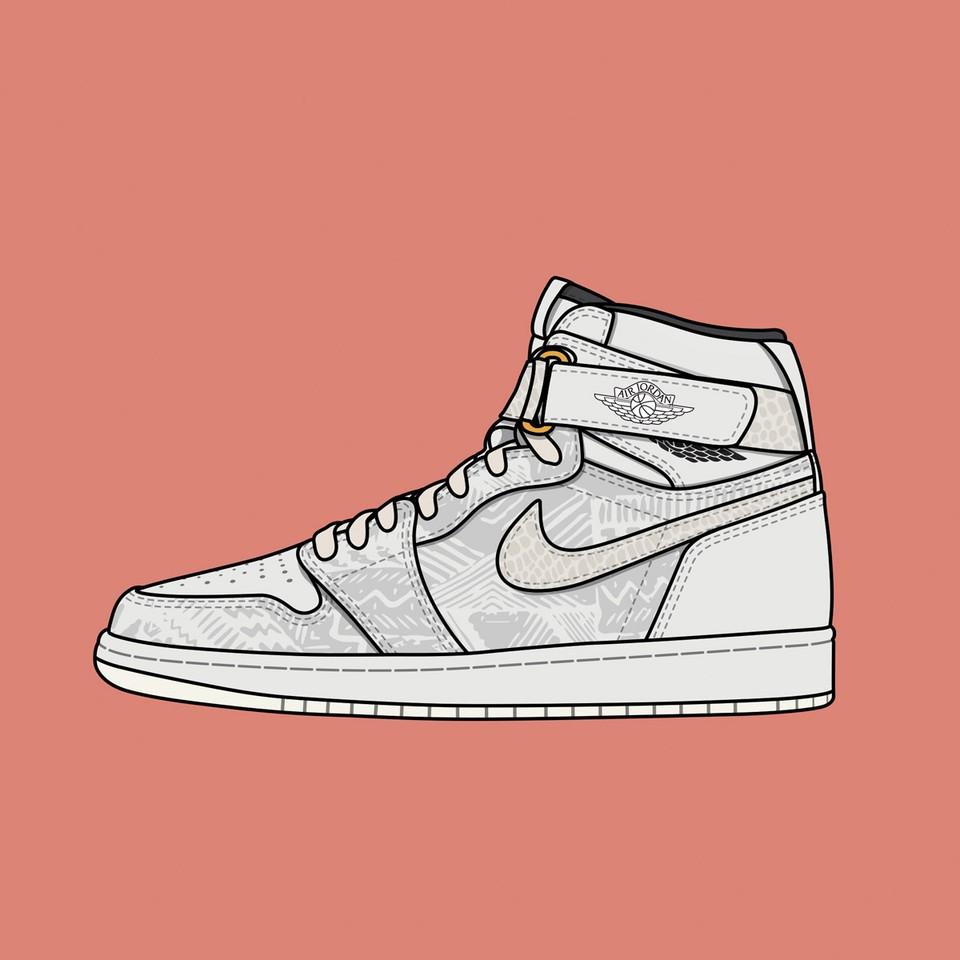 "Just Don x Nike Air Jordan 1 ""BHM"""